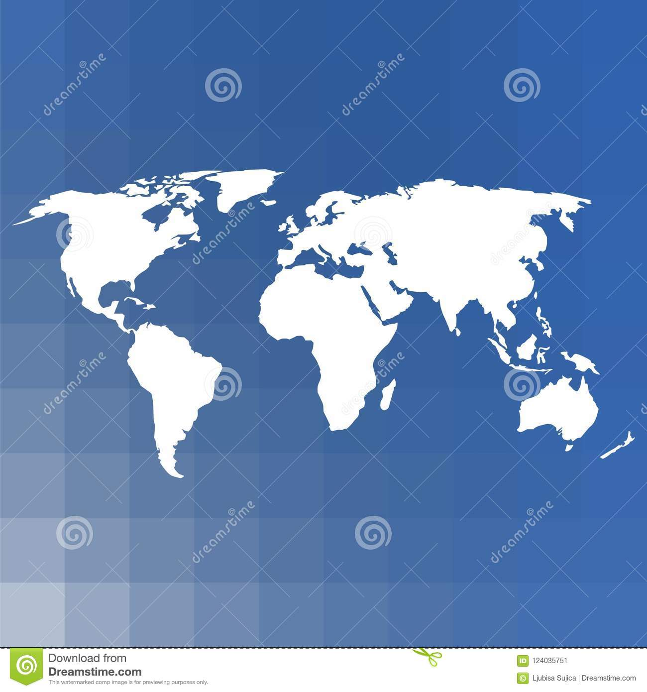 Blank world map vector illustration on blue background stock vector download blank world map vector illustration on blue background stock vector illustration of abstract gumiabroncs Image collections