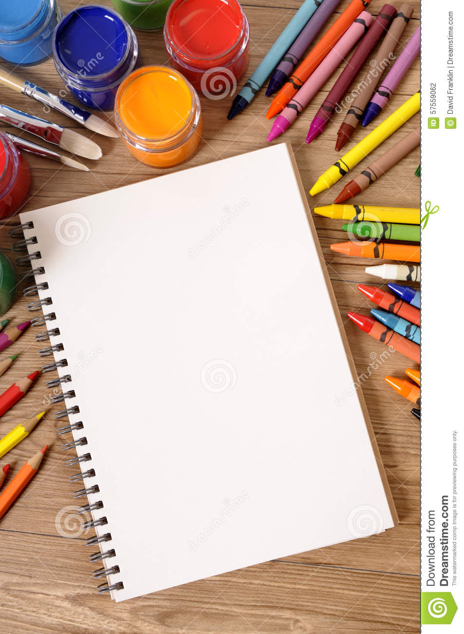 Blank Writing Book Open White Page Art Equipment Copy