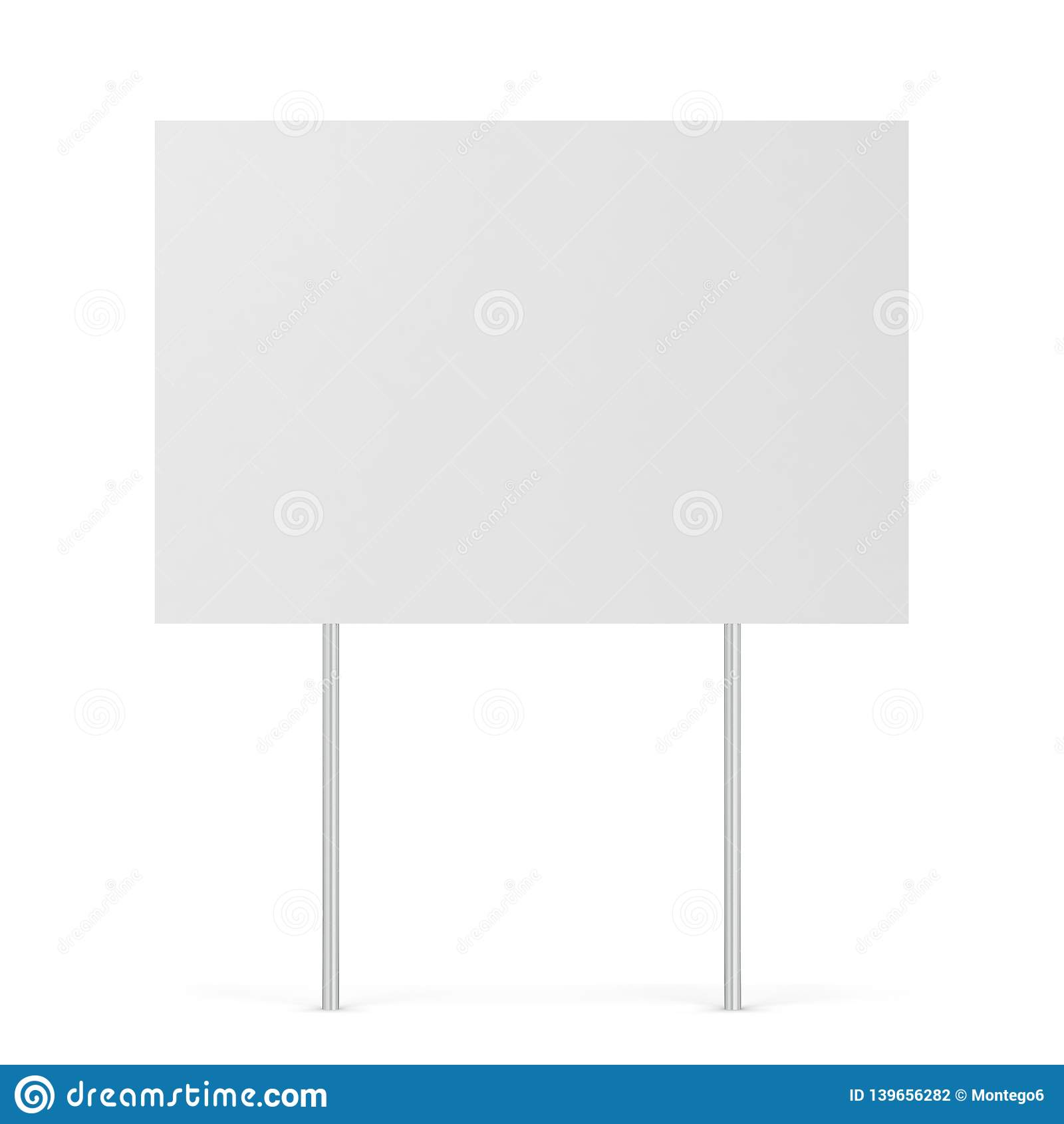 Blank yard sign