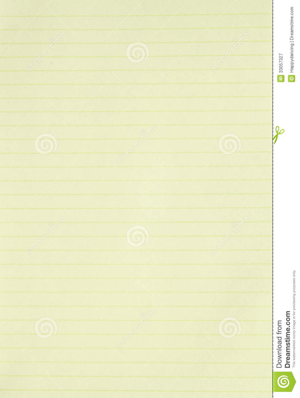 Blank Yellow Lined Paper Background Stock Image Image Of Paper