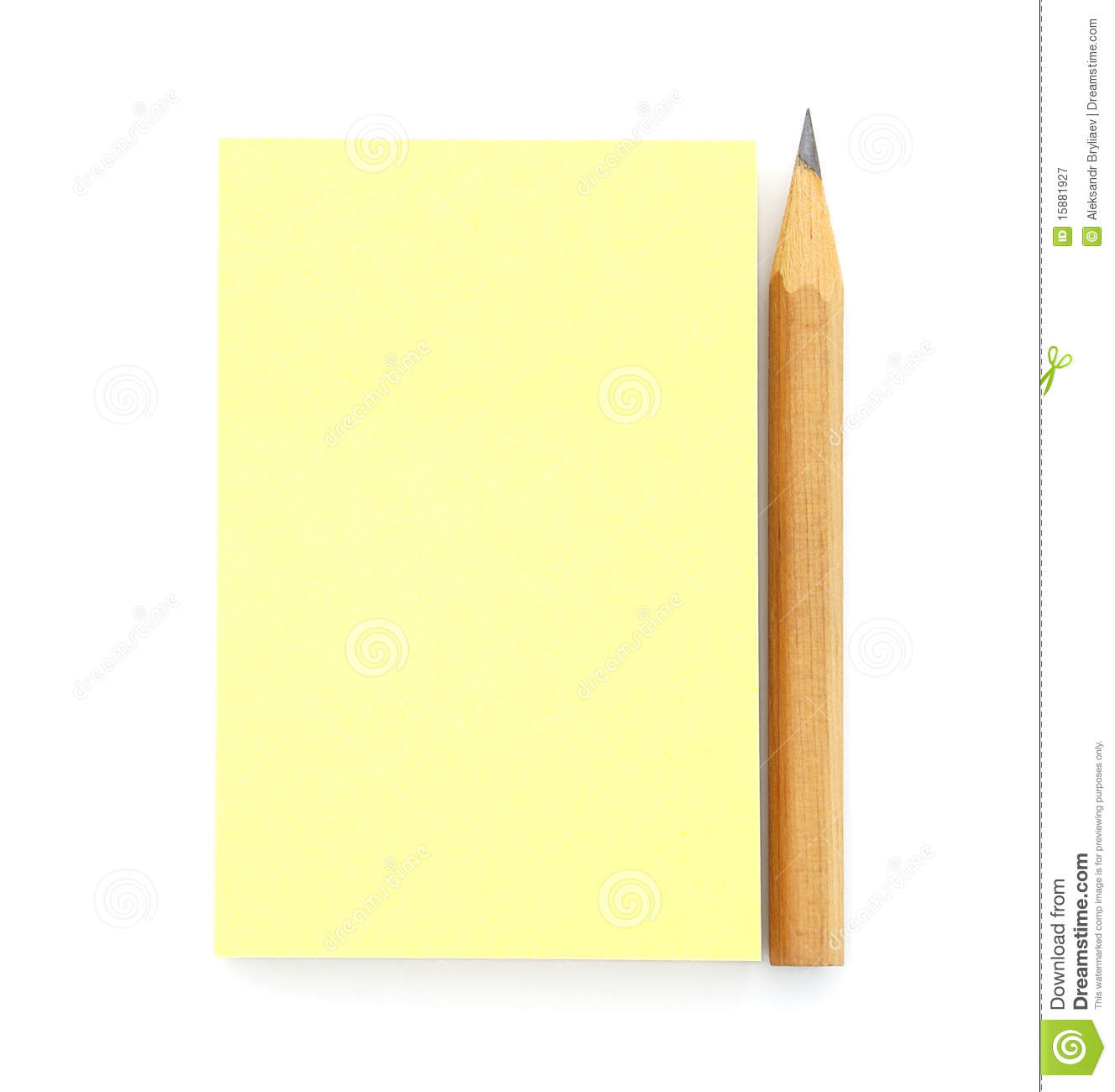 Blank Yellow Post-it Note Royalty Free Stock Photography