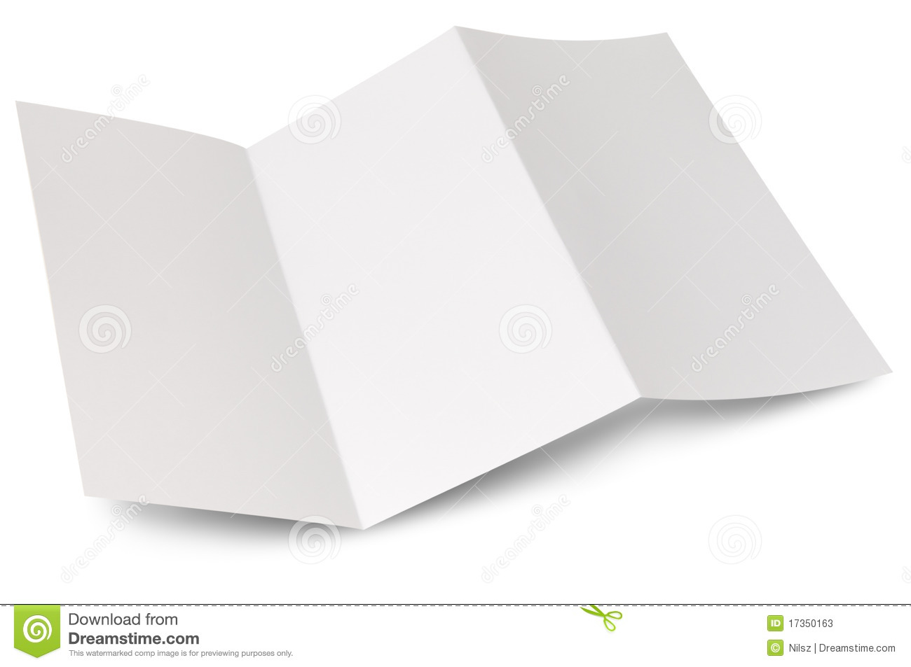 blank zigzag folded flyer stock photo 17350163 megapixl