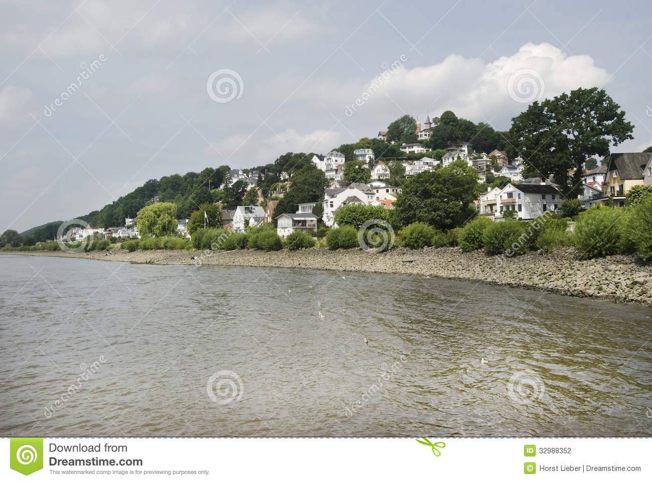 Stock photo hamburg germany riverside new - Blankenese Hamburg Germany 02 Stock Photography