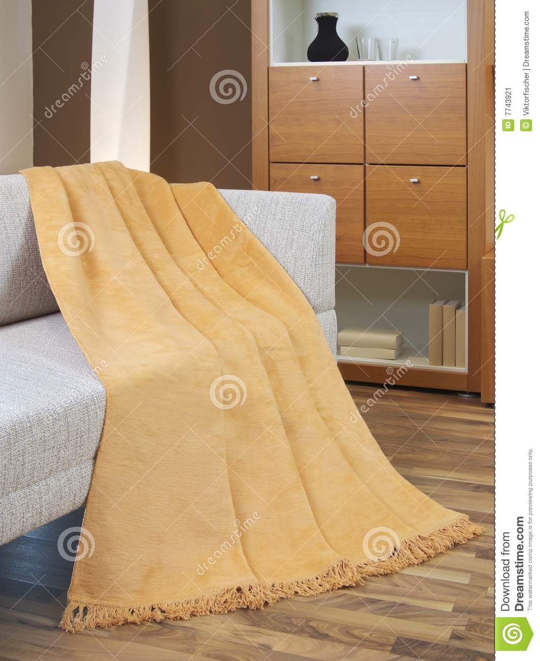 Blanket Draped Over A Settee Stock Image Image 7743921
