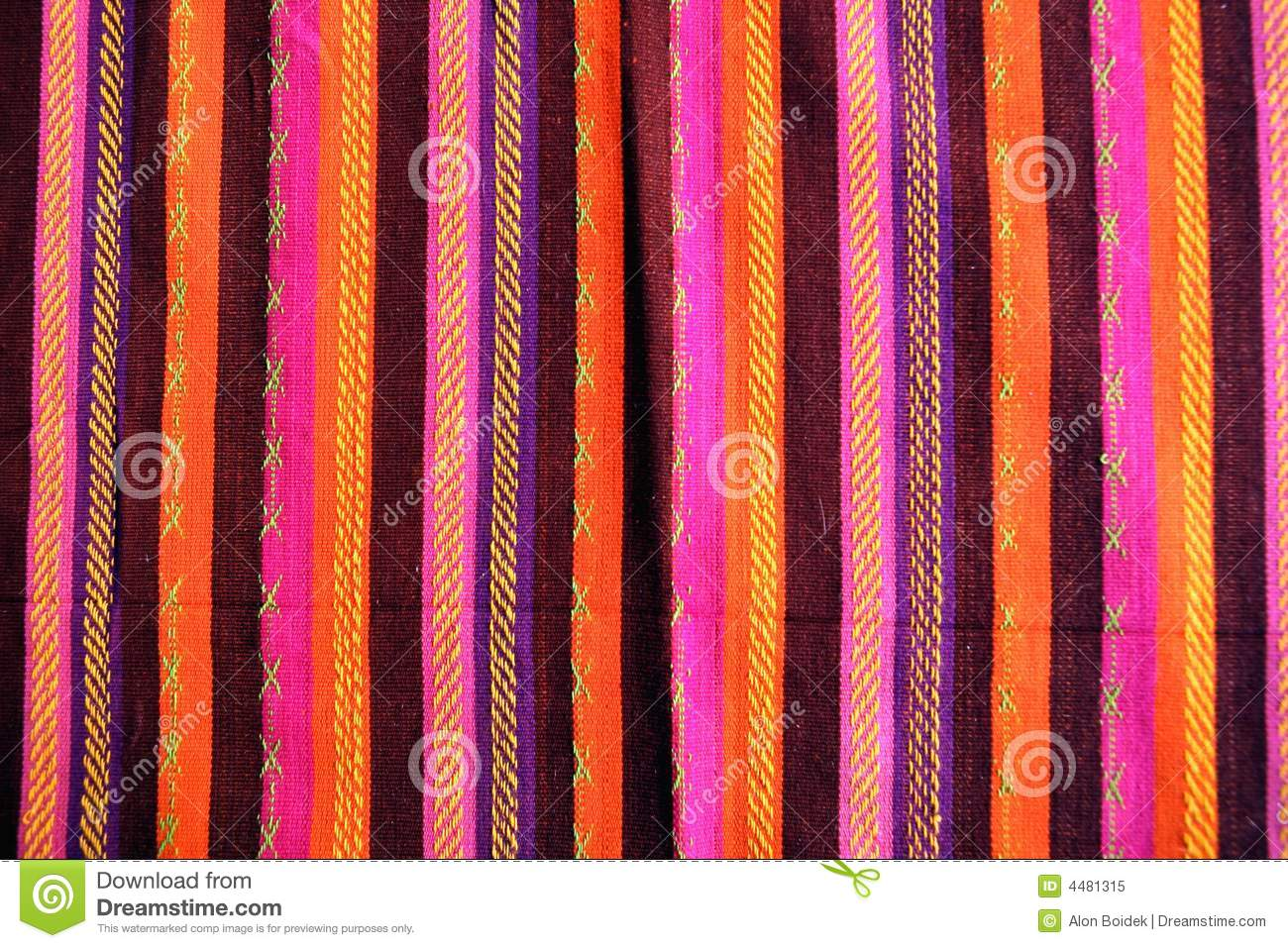 Blanket with latin american color pattern royalty free for What color is south america