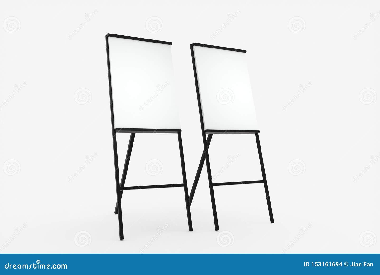 Blankoplatte mit weißem Hintergrund, 3D-Darstellung