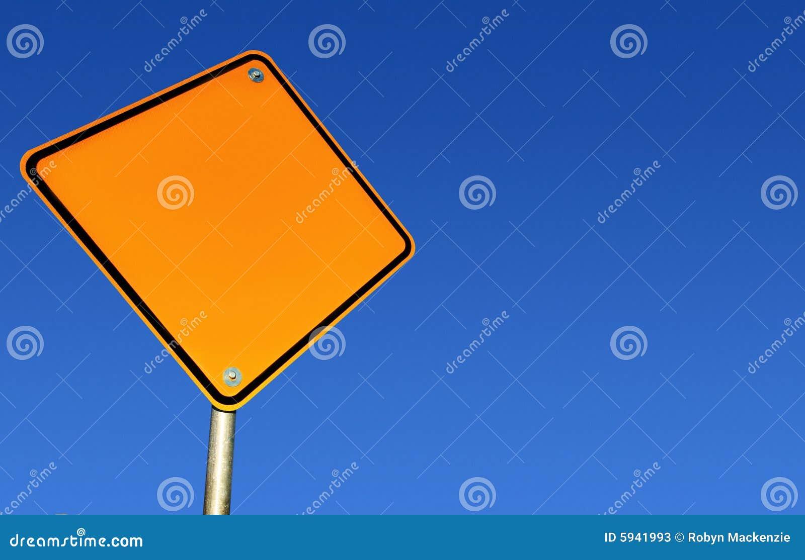 Blankt banavägmärke