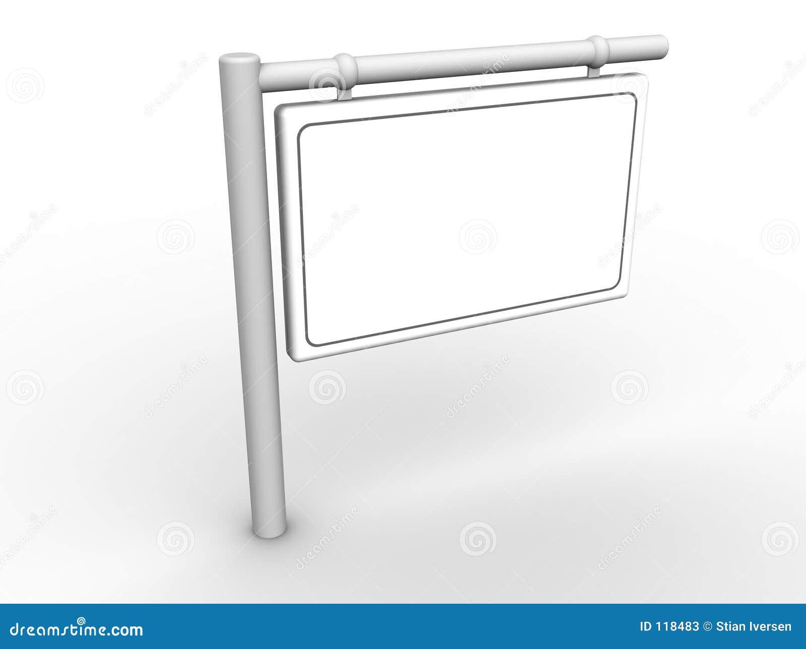 Blankt info-tecken