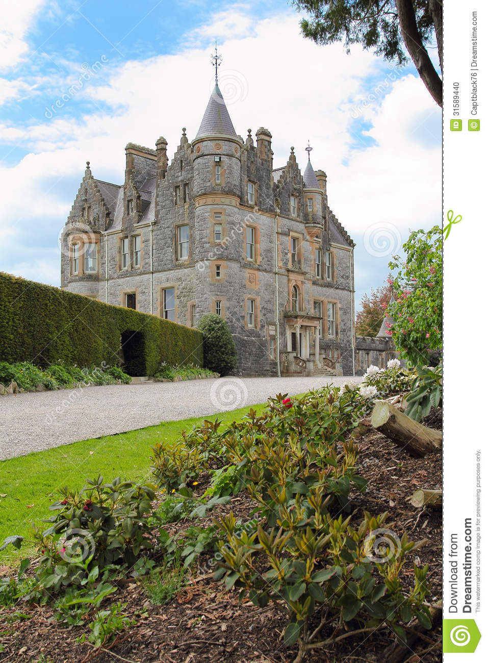 Blarney castle manor stock photo image 31589440 for The blarney house plan