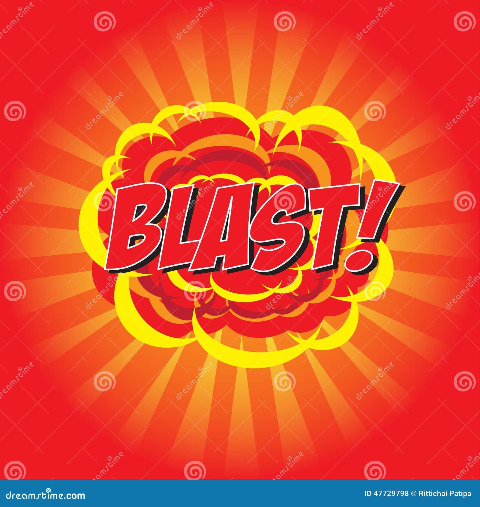 blast  comic word stock vector