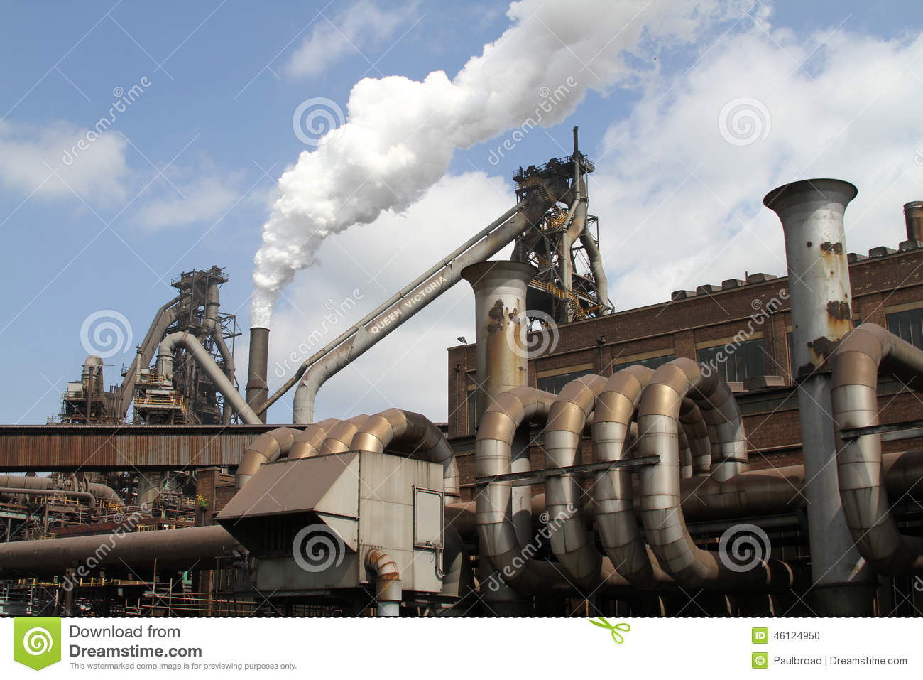 Blast Furnaces. stock photo. Image of heat, blast, steam - 46124950