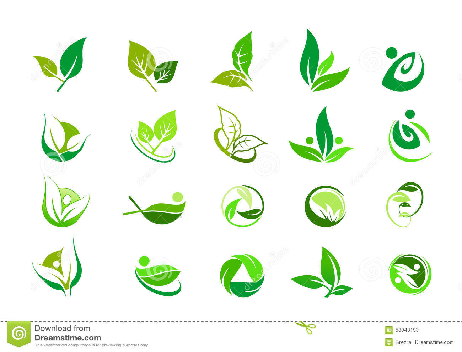 Blatt, Logo, organisch, Wellness, Leute, Anlage, Ökologie, Naturdesign-Ikonensatz