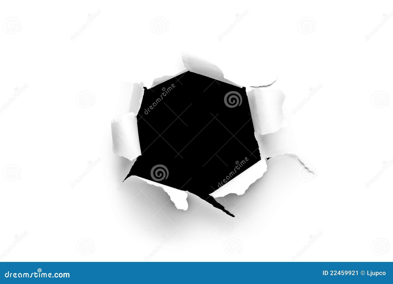 blatt papier mit einem runden loch stockbild bild 22459921. Black Bedroom Furniture Sets. Home Design Ideas