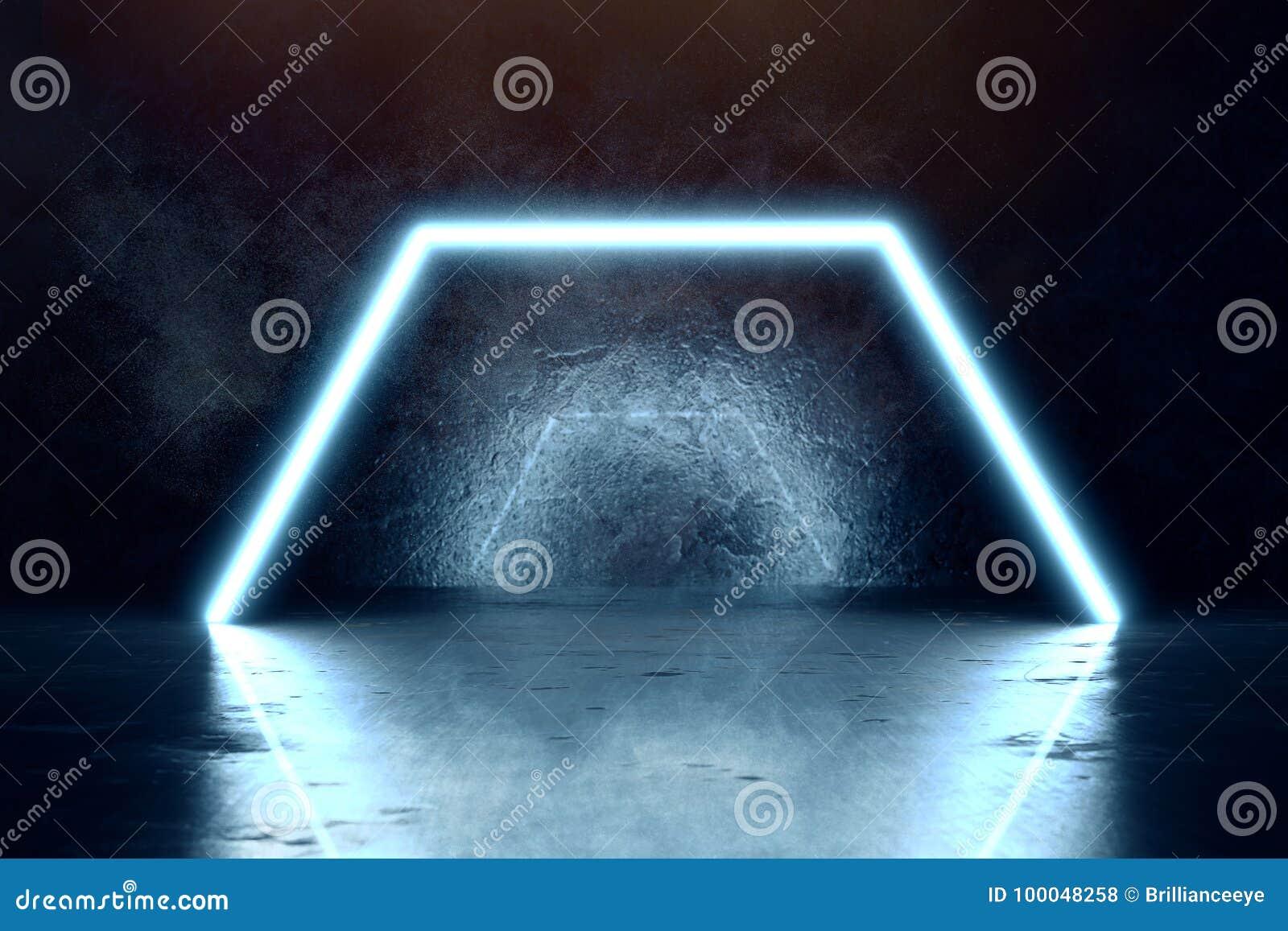 Blau erleichtert Hexagon- und Schmutzwandhintergrund
