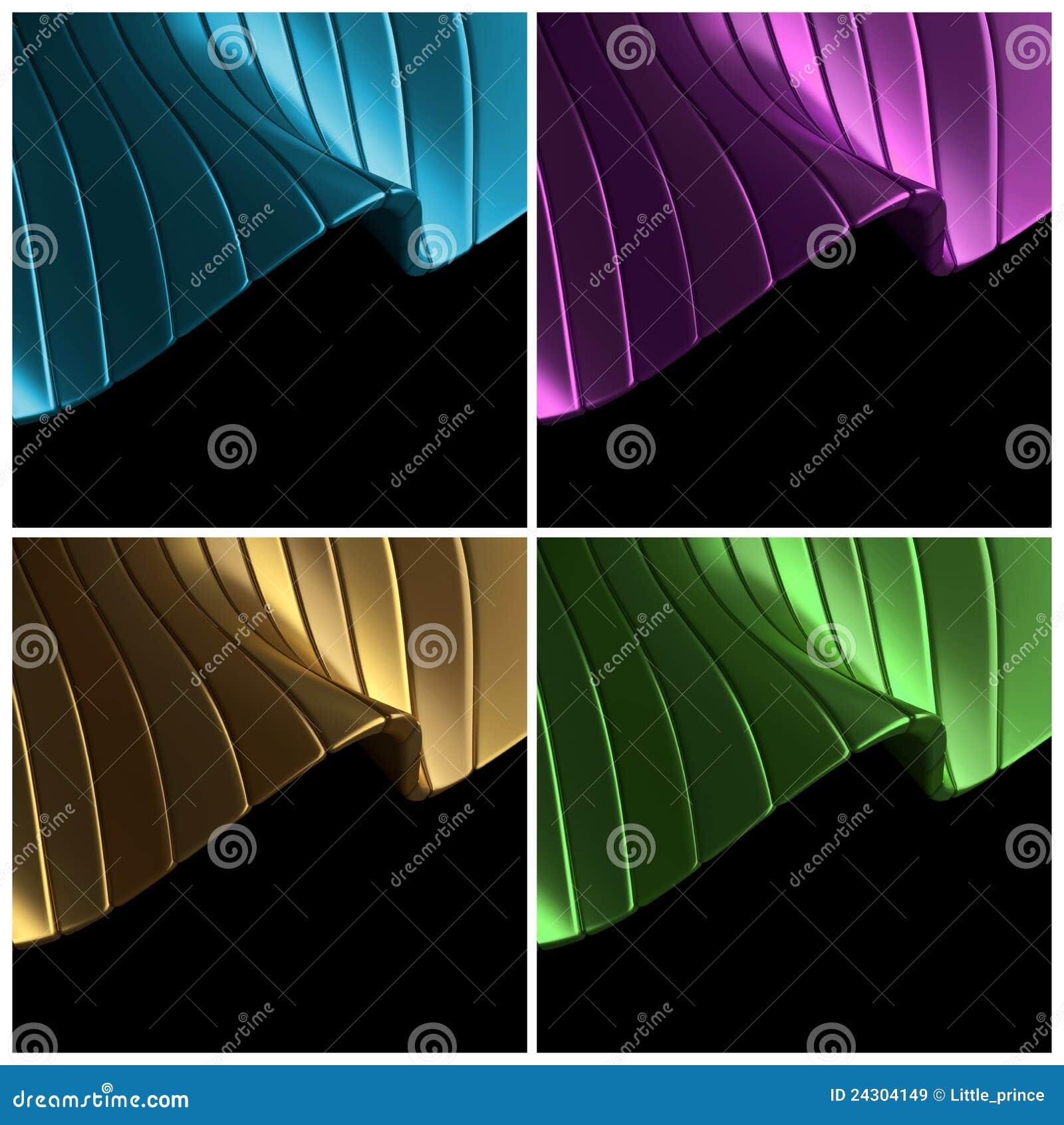Blau, purpurrot, Gold, grüner abstrakter Hintergrund