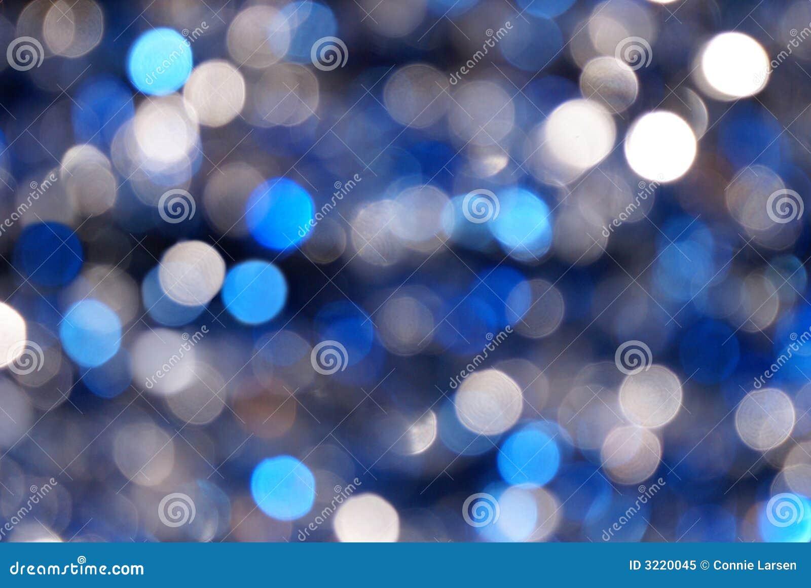 Blau-u. Silber-Unschärfen-Hintergrund