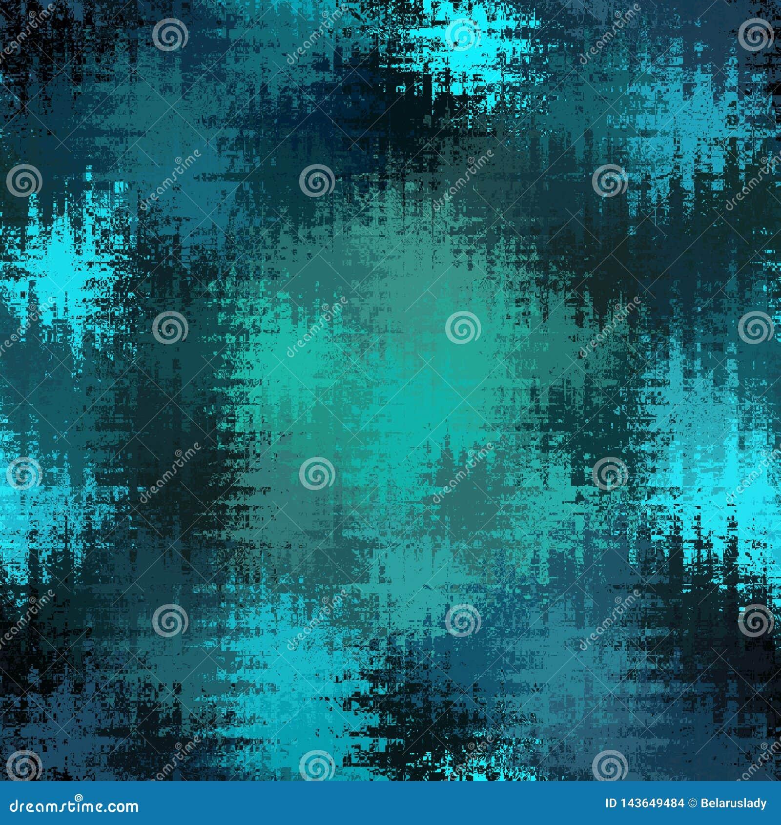 Blau- und Türkiswellendreiecke backround mit blured Effekt