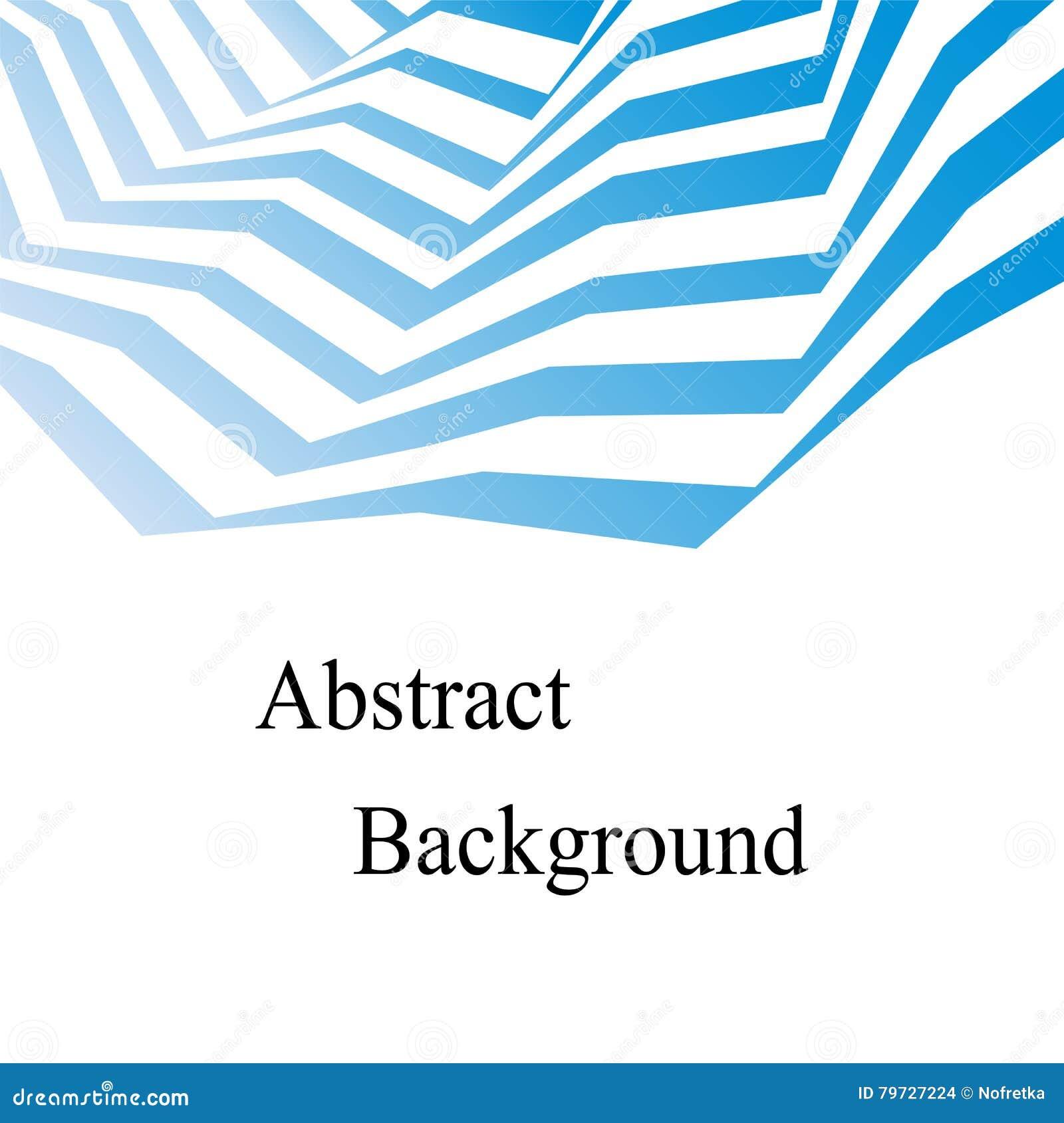 Blau Verbogene Streifen Schablone Für Visitenkarten