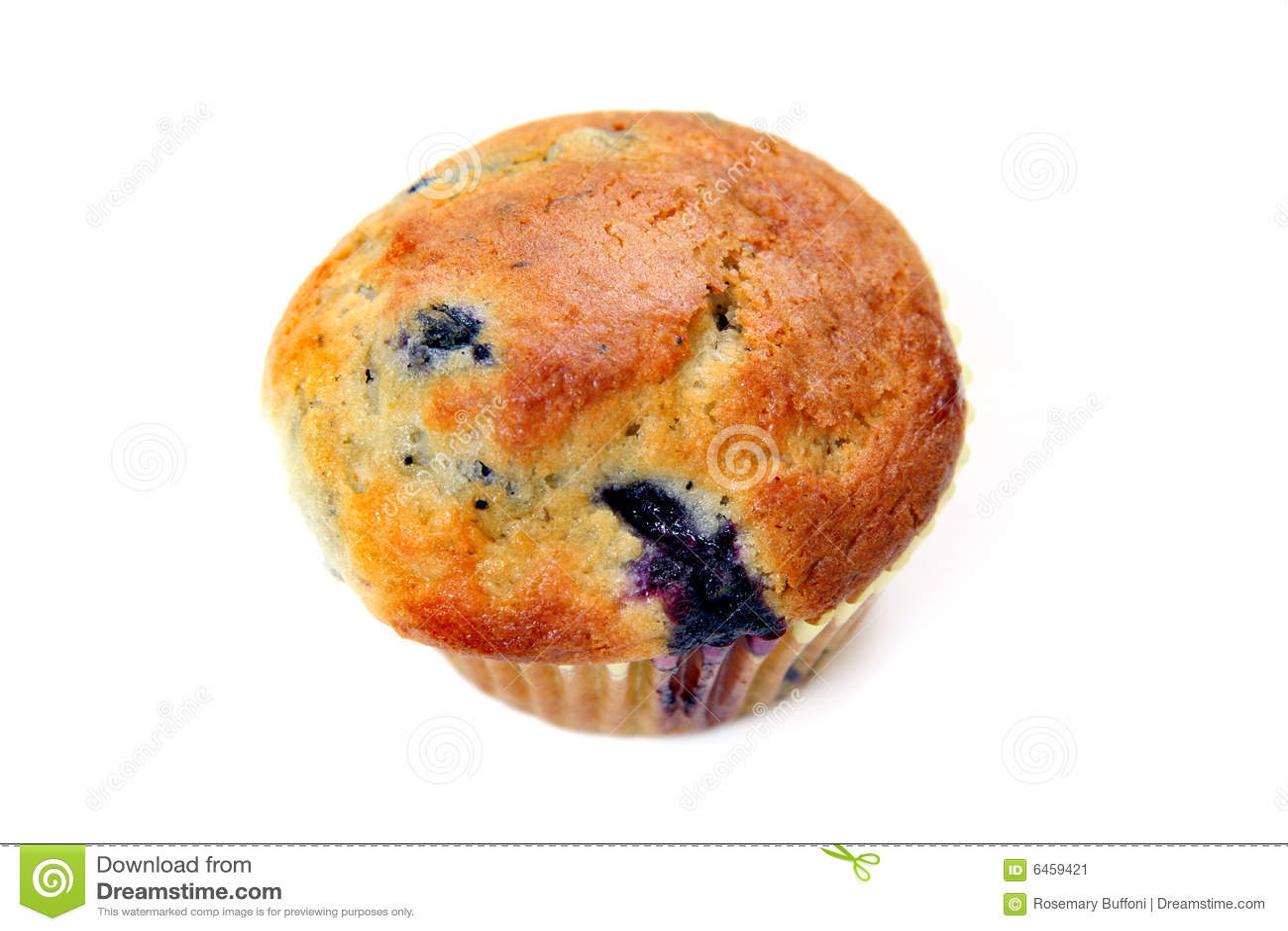 Blaubeere-Muffin auf Weiß