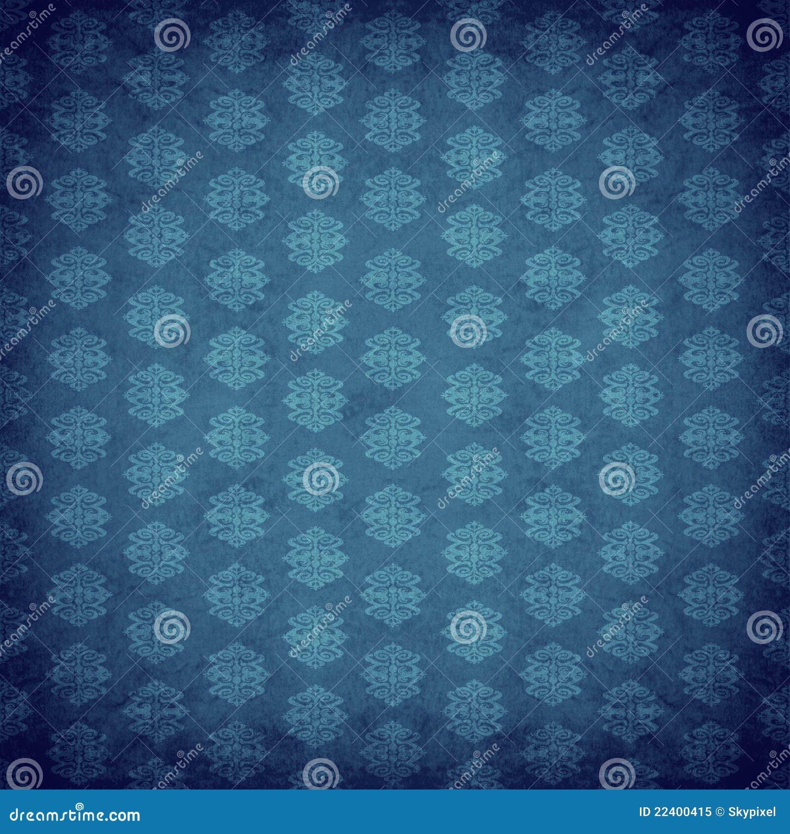 Blaue antike alte tapete lizenzfreies stockfoto bild for Blaue tapete