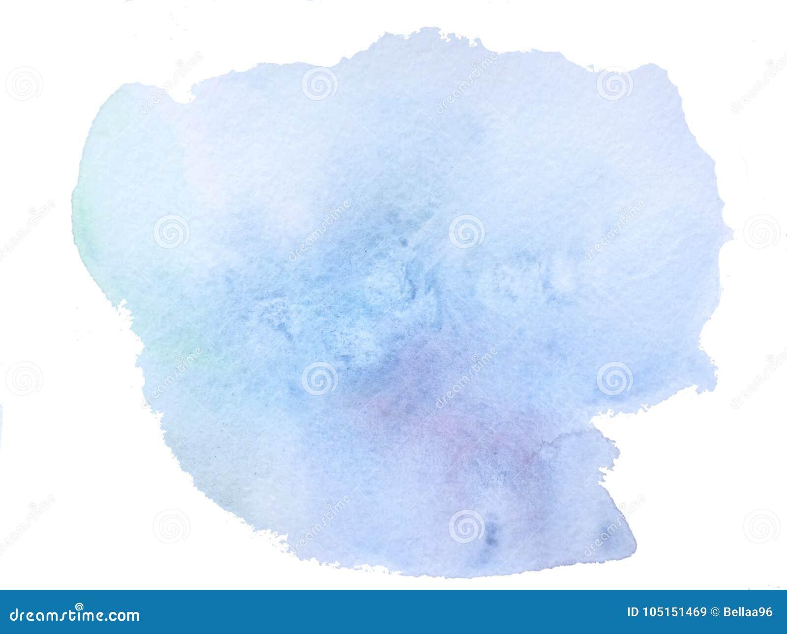 Blaue Aquarell-Wäsche