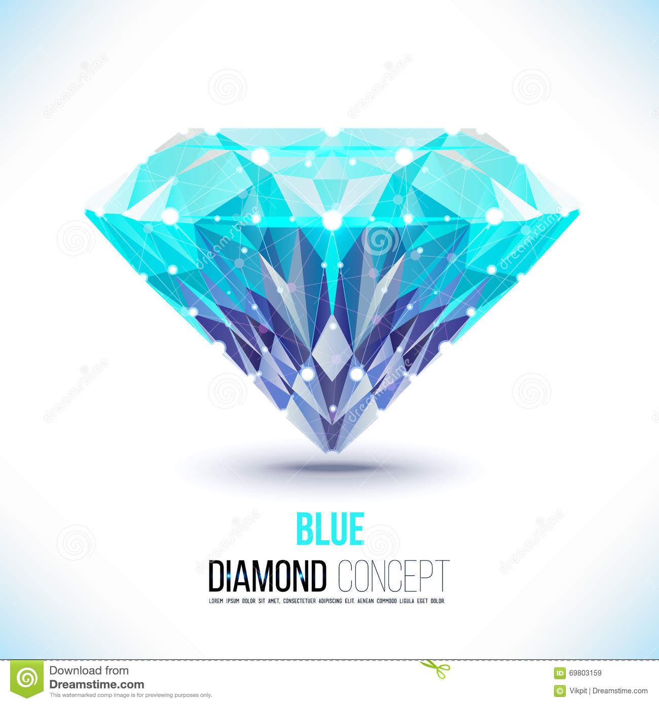 Blaue diamondVector Form