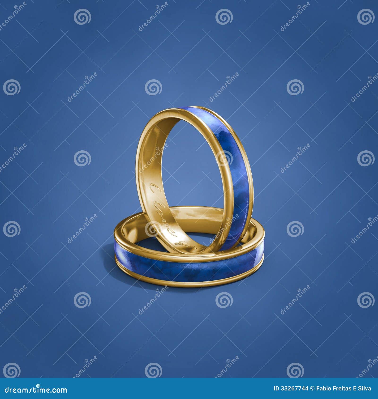 Eheringe gold blau
