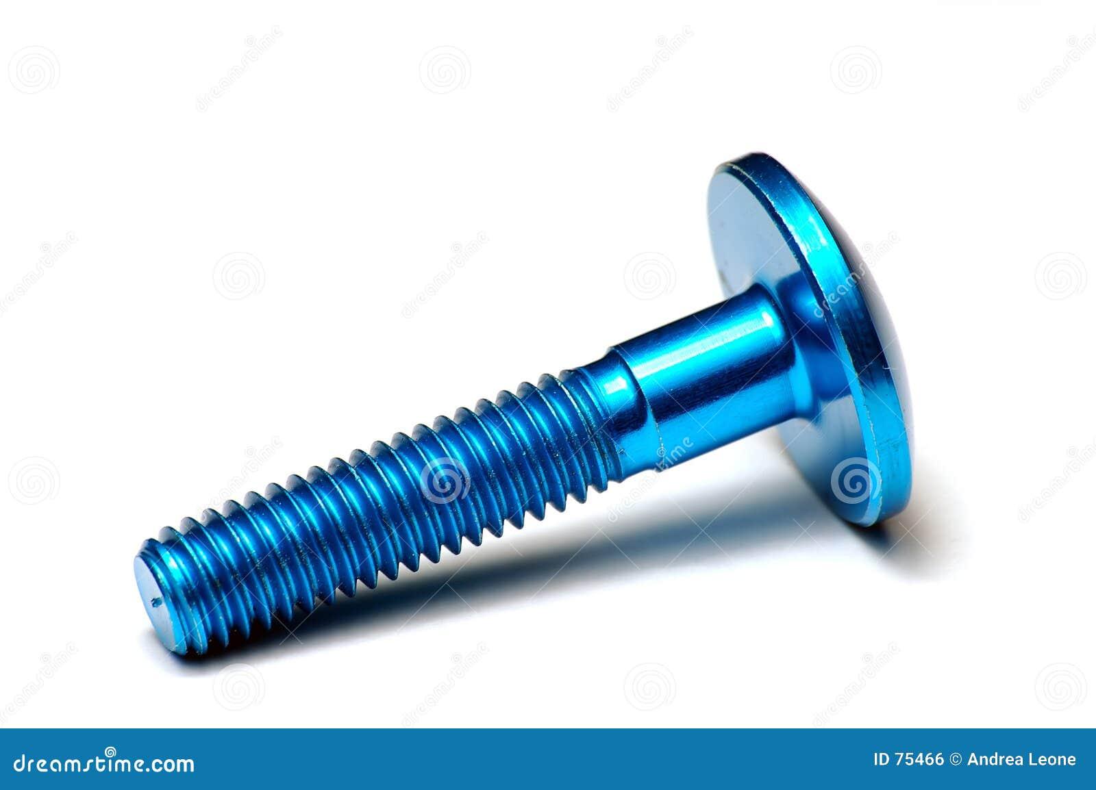 Blaue ergal Schraube