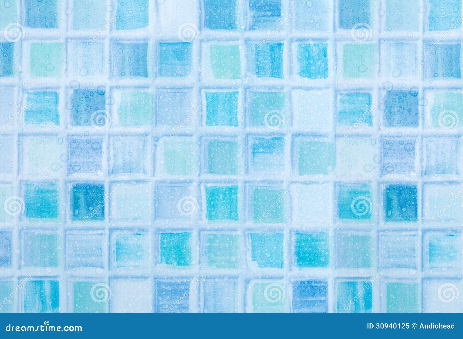 Blaue fliesen im badezimmer stockbild bild 30940125 - Blaue fliesen ...