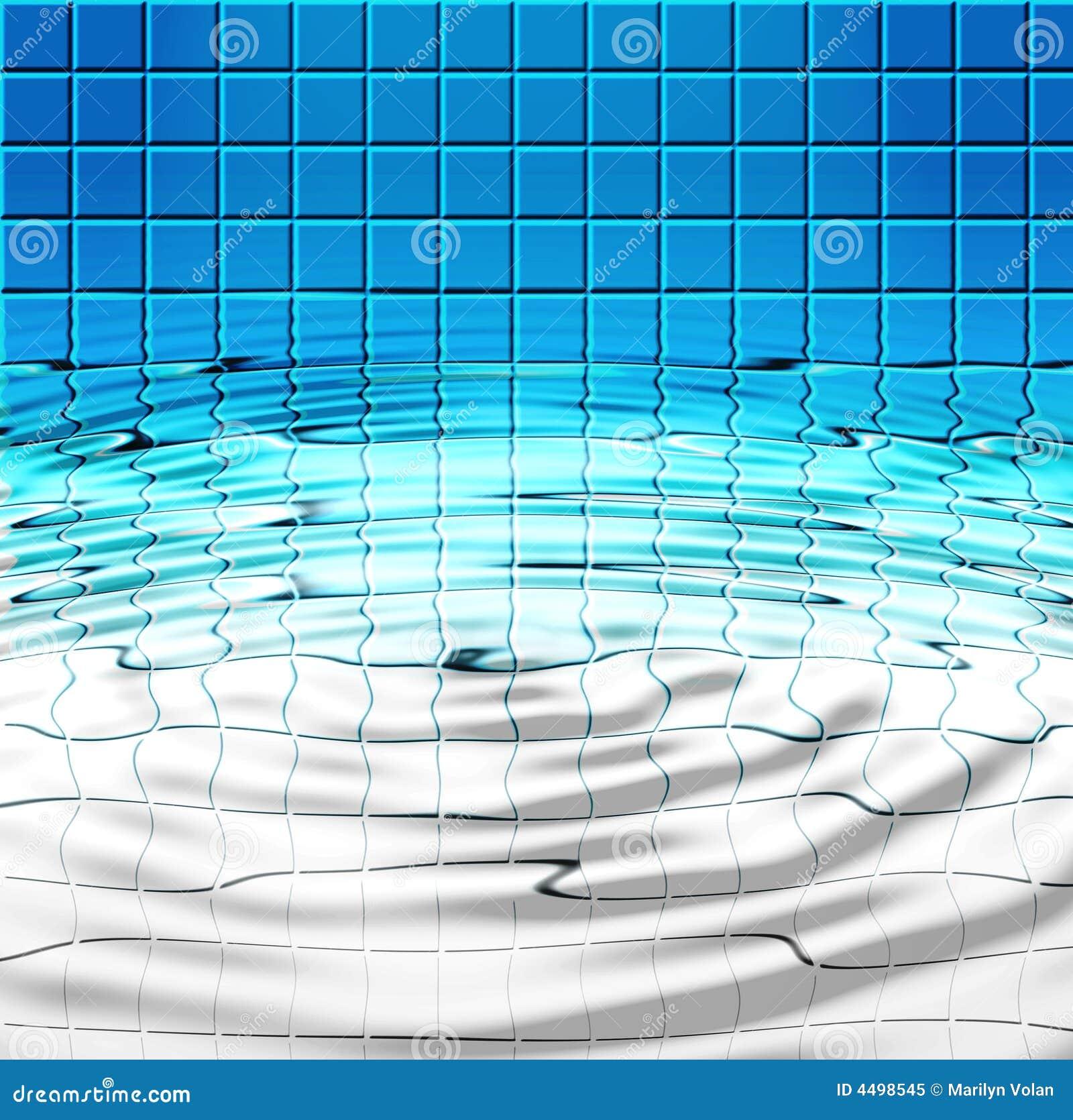 Blaue Fliesen Und Wasser Im Pool Stock Abbildung