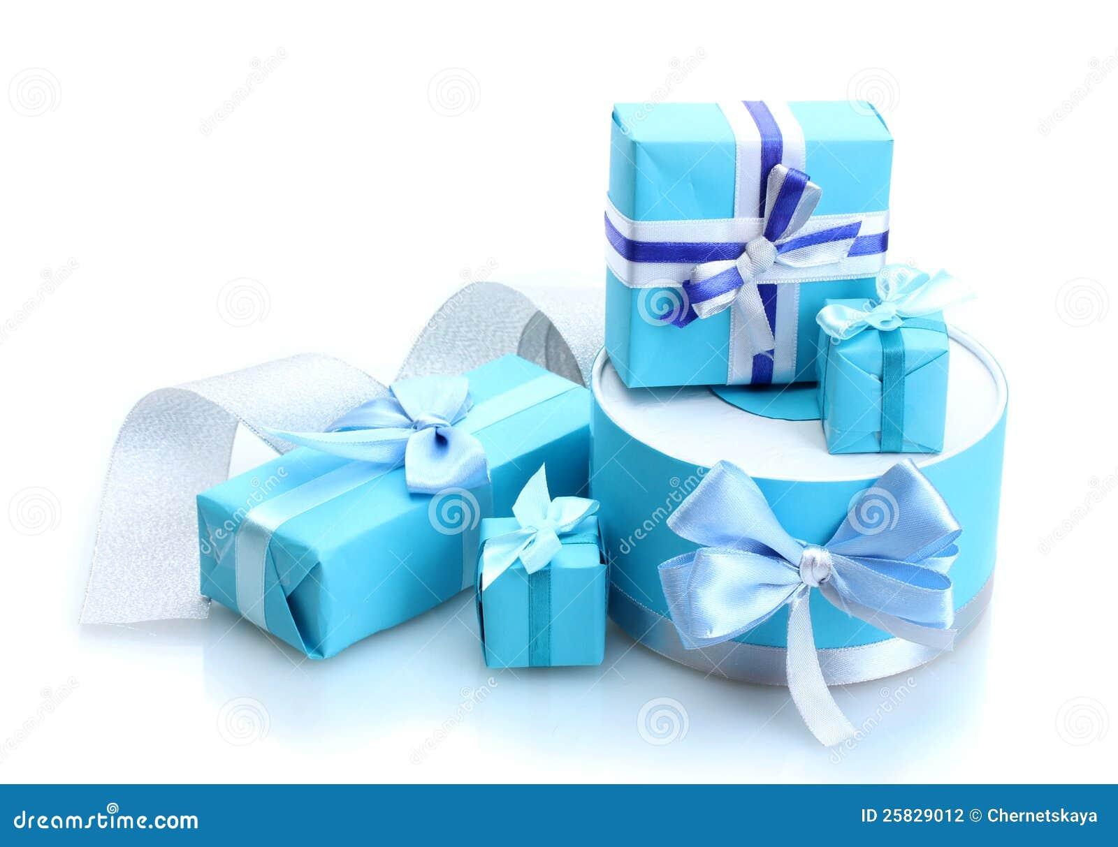 blaue geschenke mit b gen stockfotografie bild 25829012. Black Bedroom Furniture Sets. Home Design Ideas