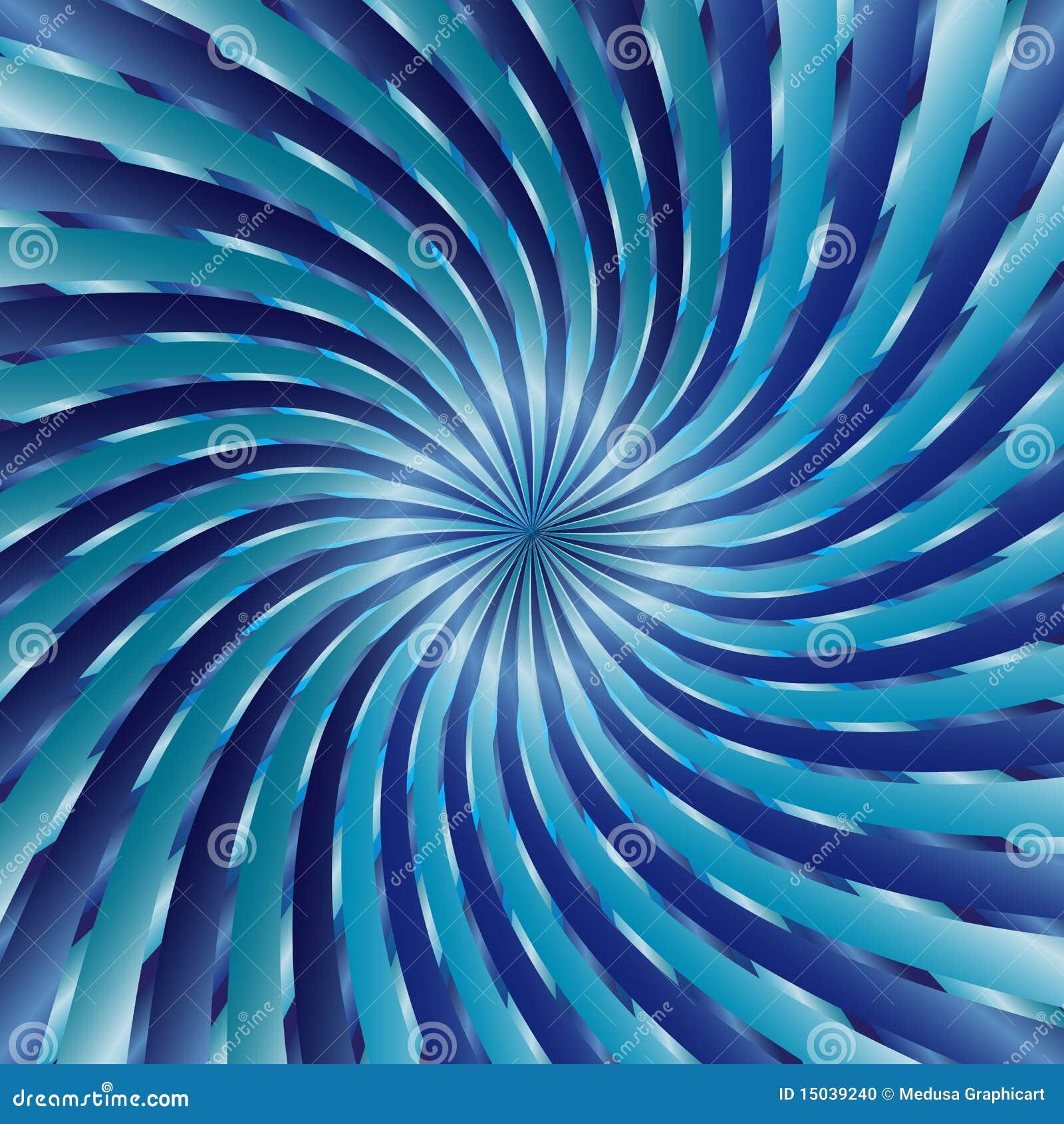 Blaue gewundene Turbulenz