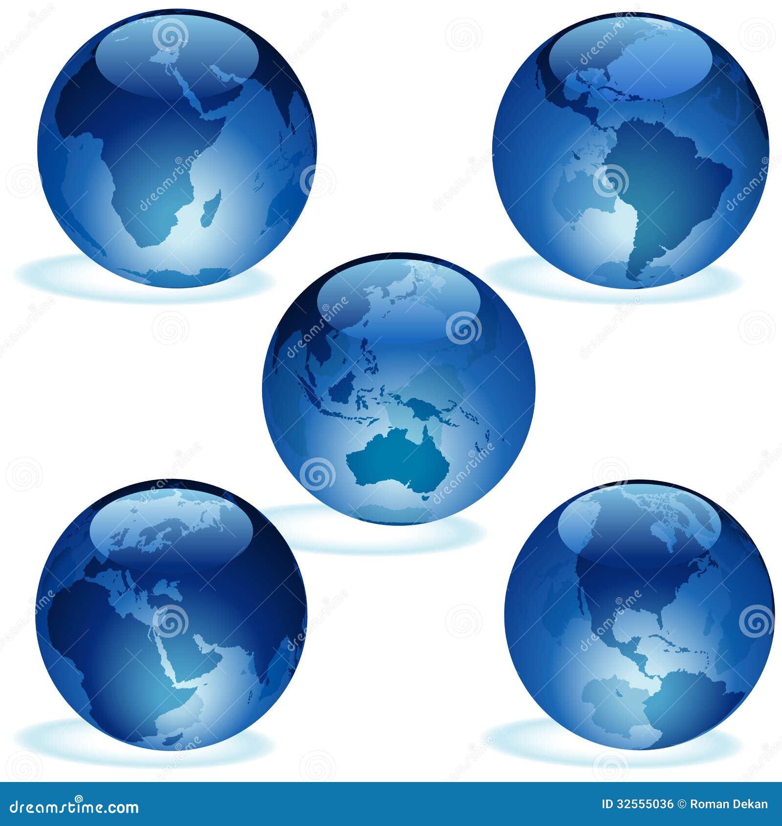 Blaue Glaserdsammlung