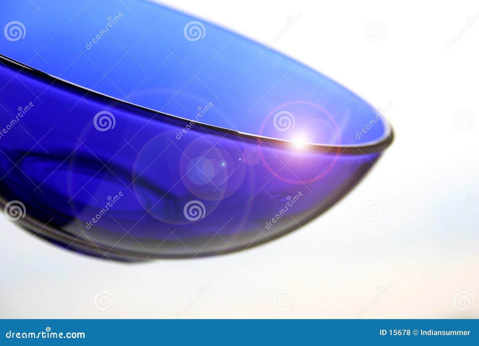 Blaue Glasplatte