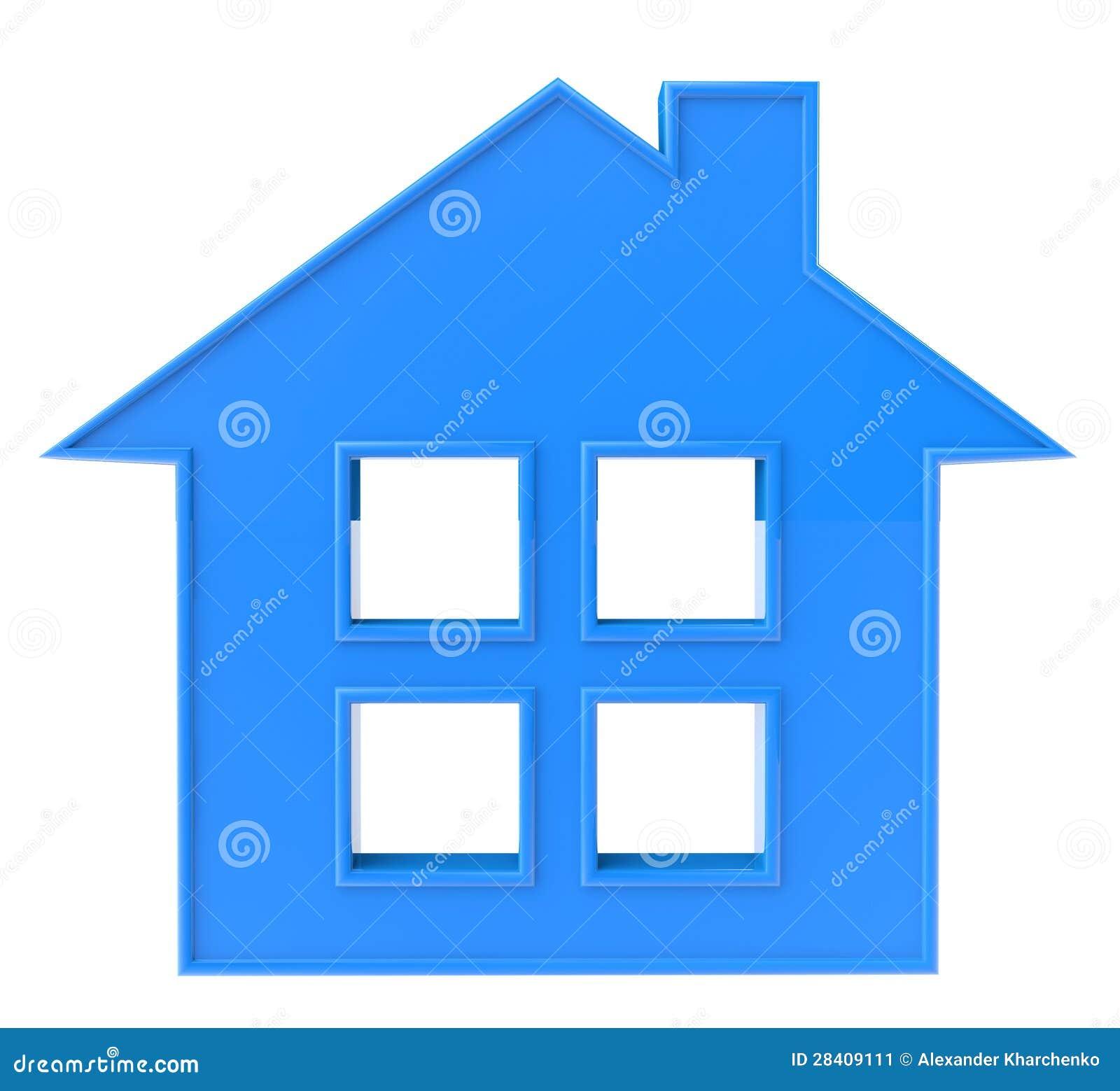 Blaue Haus-Ikone