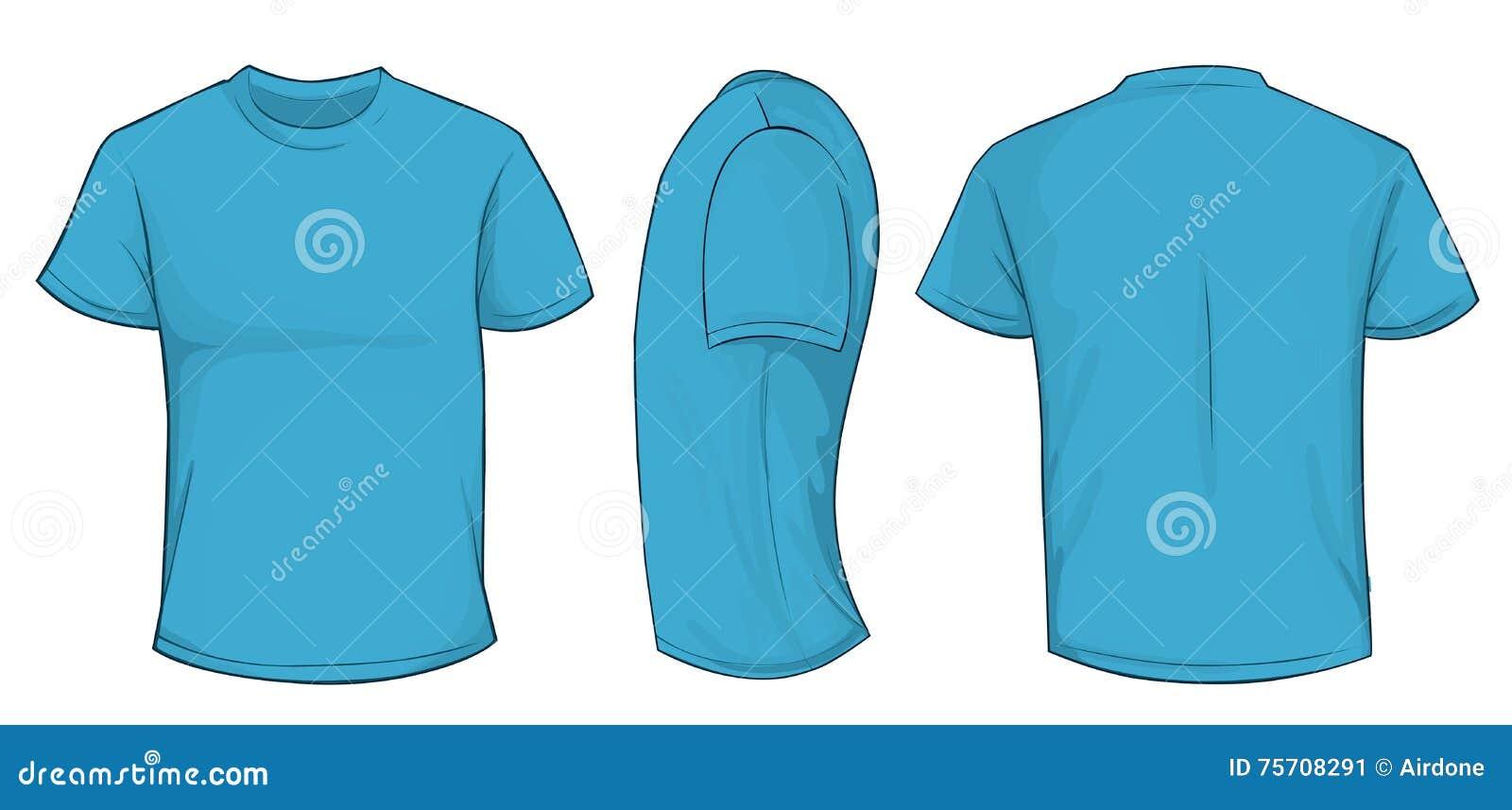 Blaue Hemd-Schablone stock abbildung. Illustration von frontseite ...