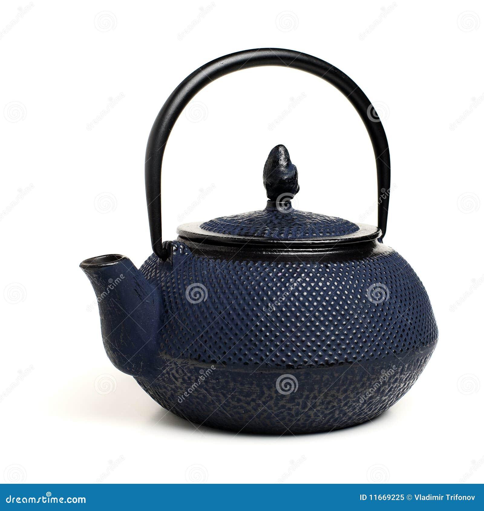 blaue japanische teekanne lizenzfreies stockfoto bild. Black Bedroom Furniture Sets. Home Design Ideas
