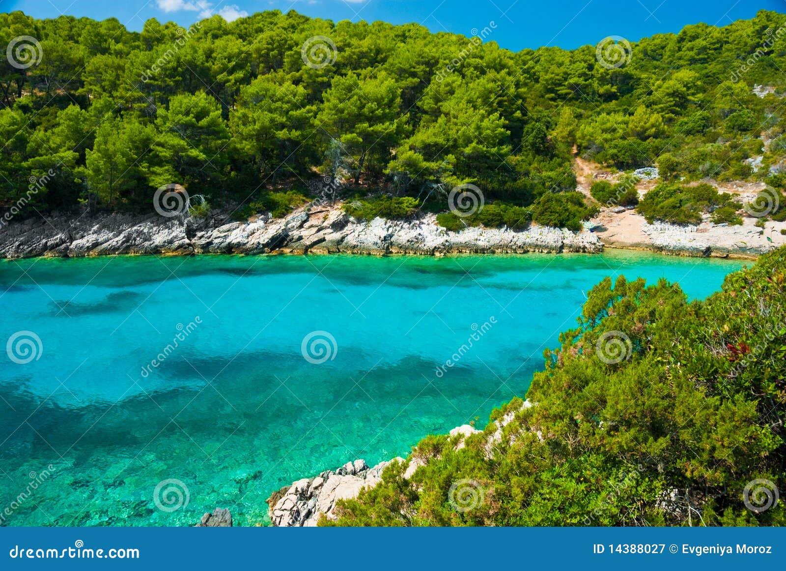 blaue lagune im adriatischen meer stockbild bild 14388027. Black Bedroom Furniture Sets. Home Design Ideas