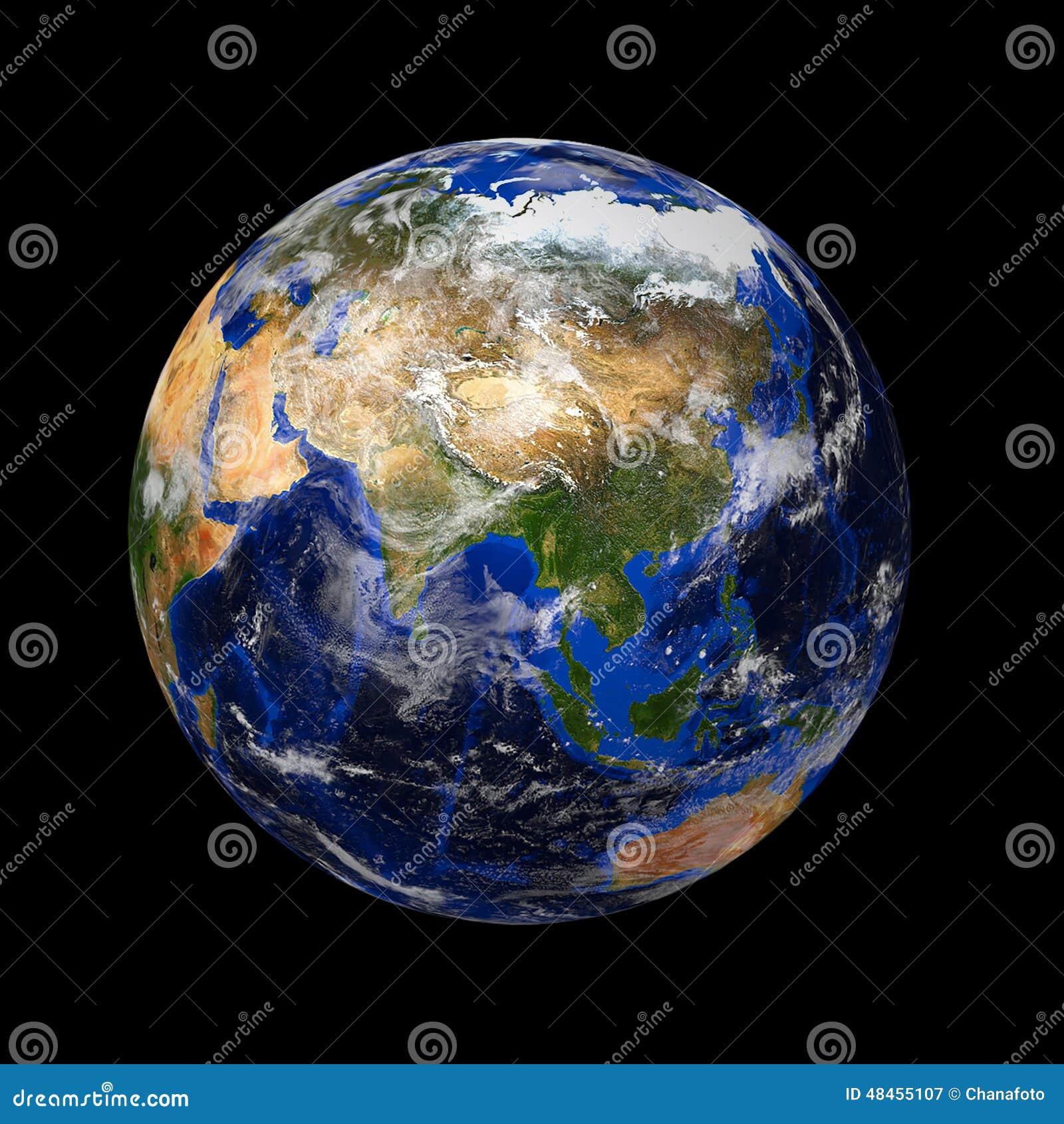 Blaue Marmorplanetenerde