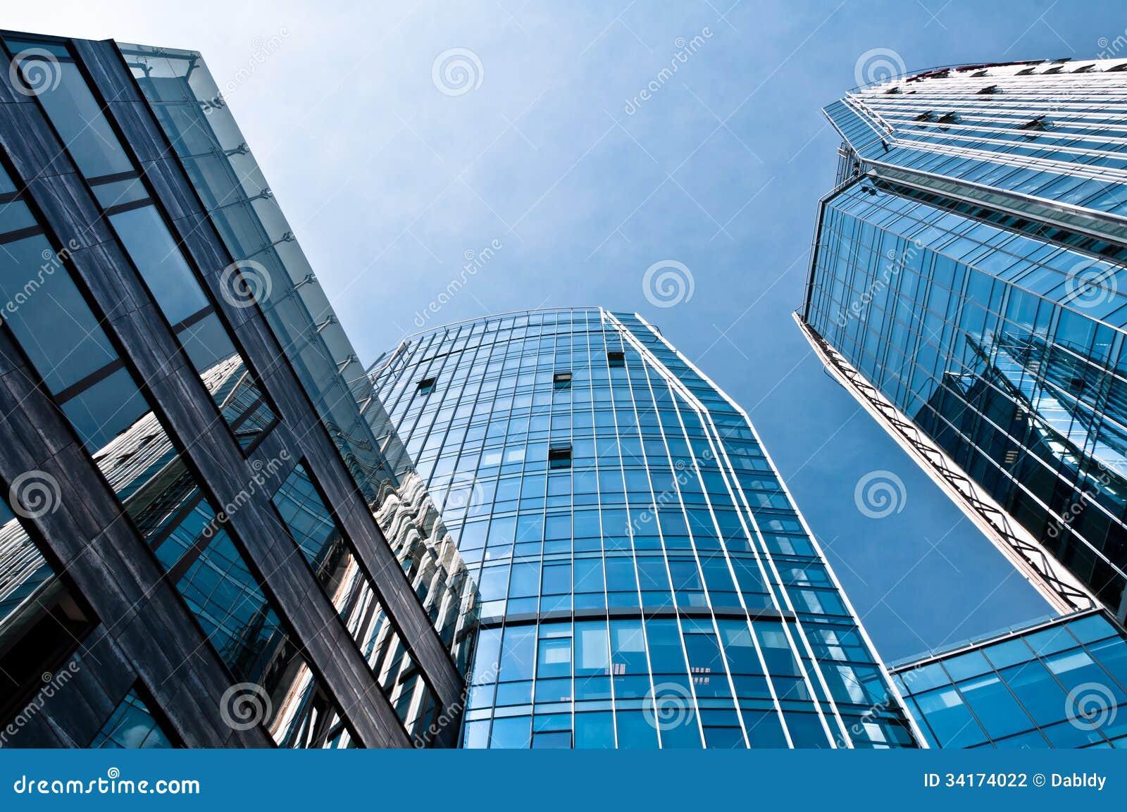 Blaue Moderne Architektur Gebaude Stockfoto Bild Von Fassade