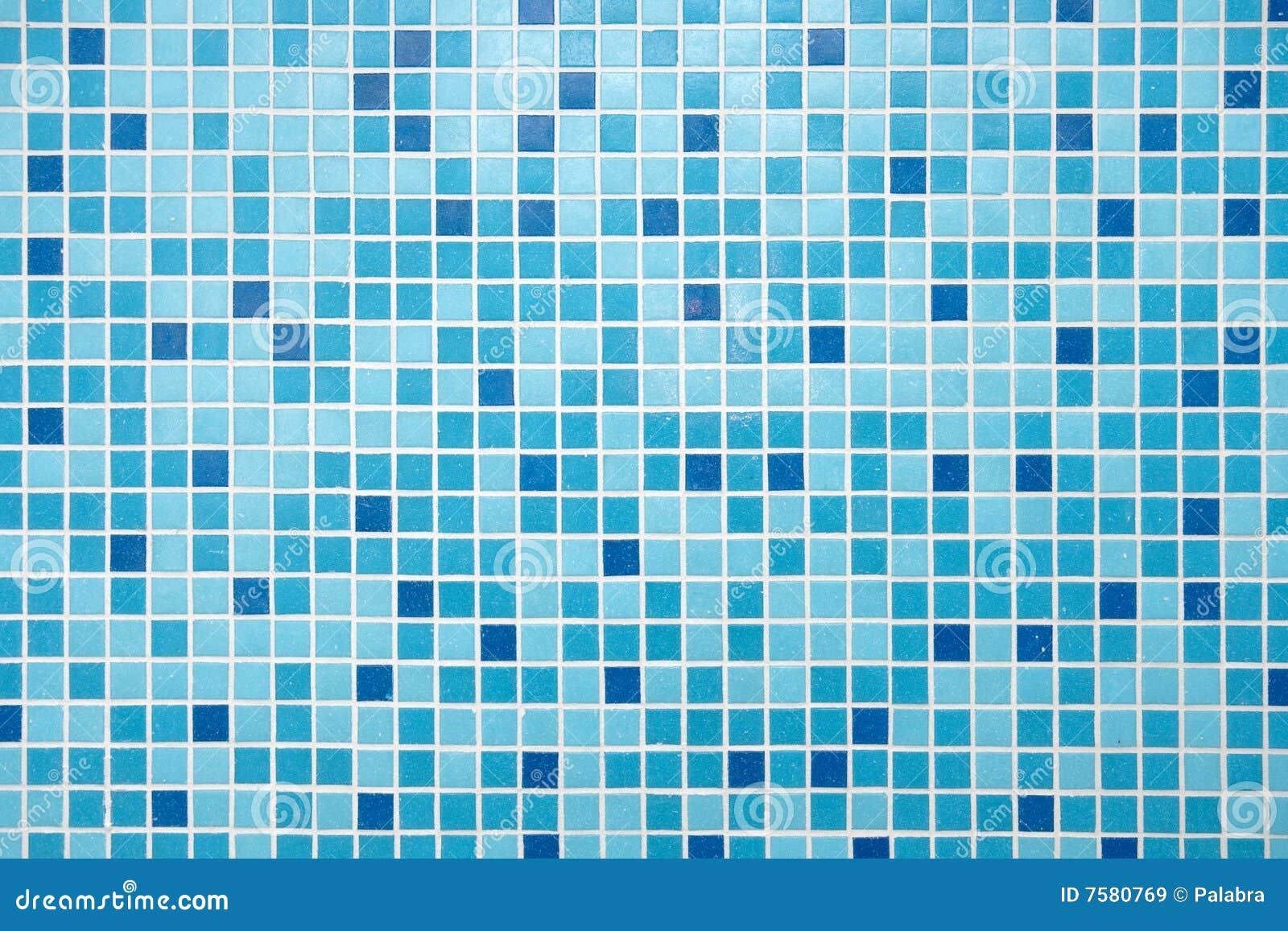 Blaue Mosaik-Fliesen Lizenzfreie Stockbilder - Bild: 7580769