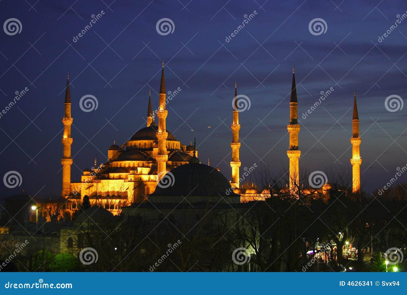 Blaue Moschee nachts