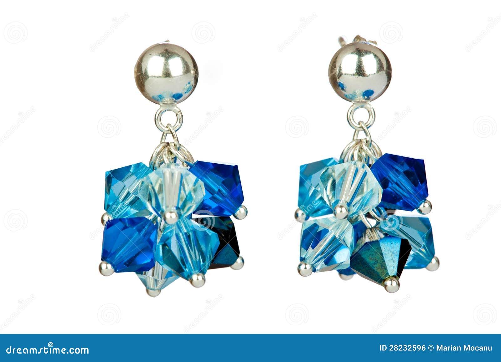 Blaue Ohrringe