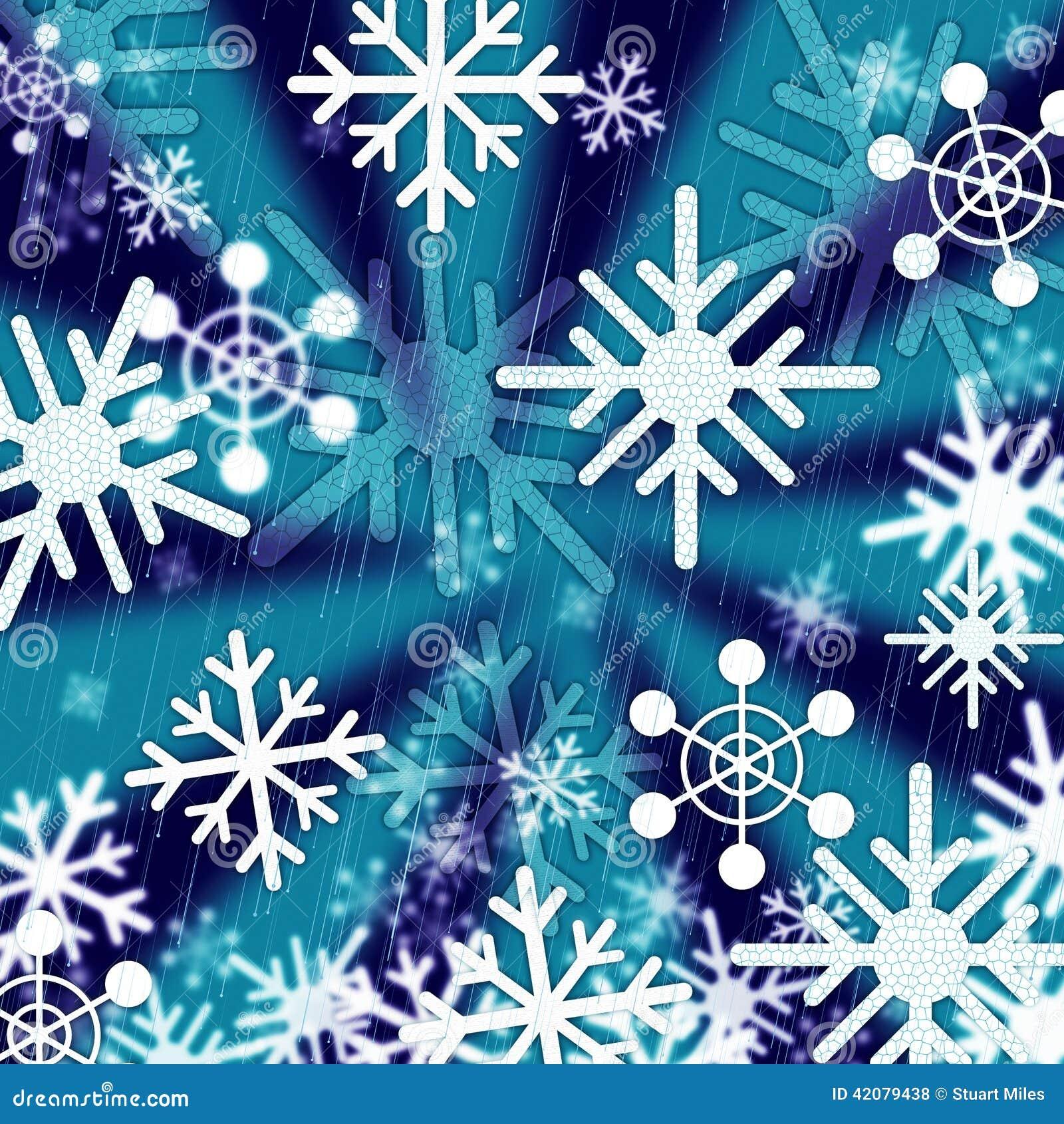 Blaue Schneeflocken-Hintergrund-Durchschnitte, Die Jahreszeiten Und ...
