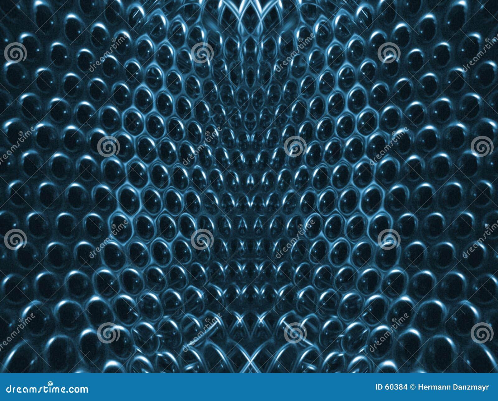 Blaue Struktur