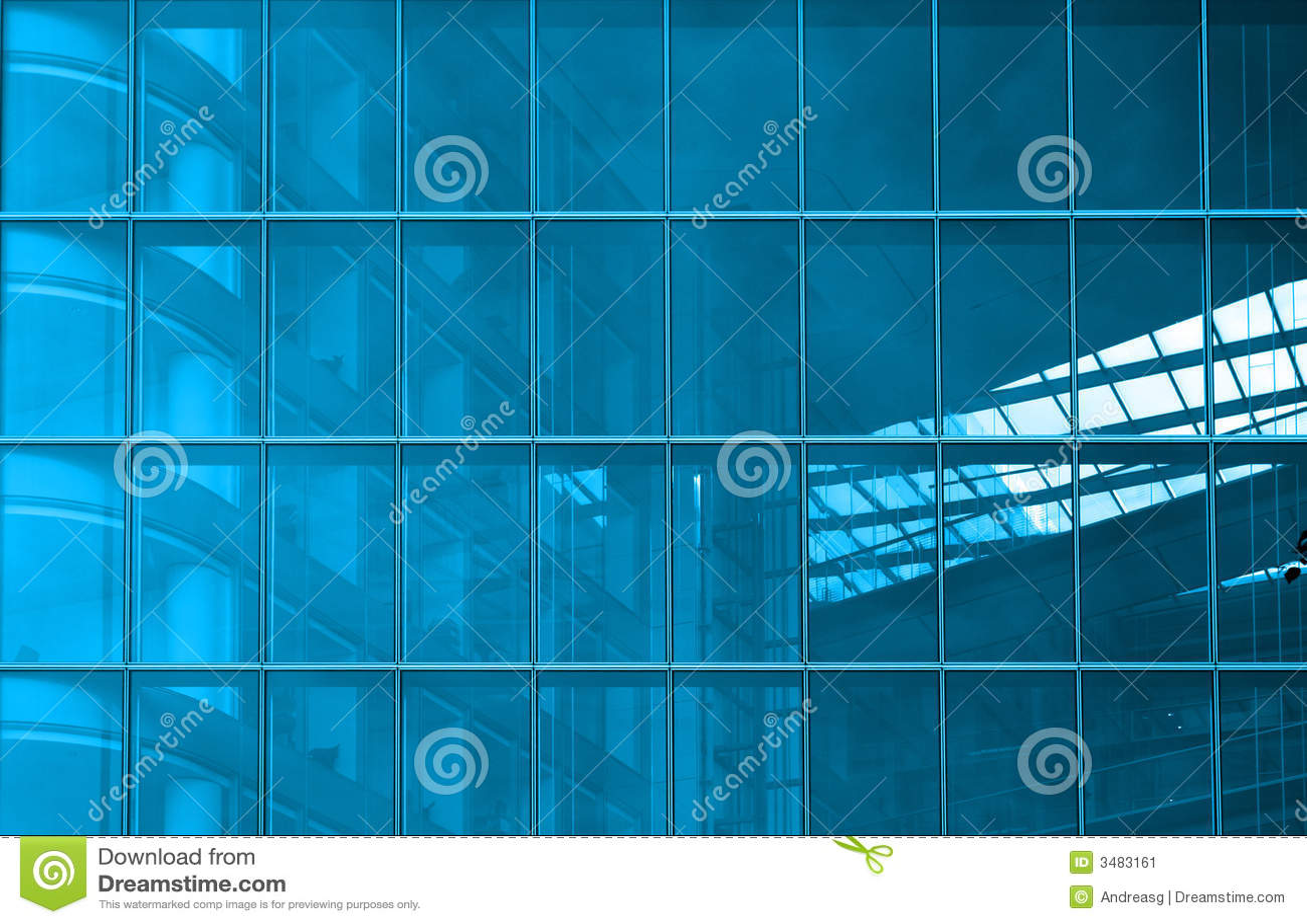 Blaue strukturelle Verglasung