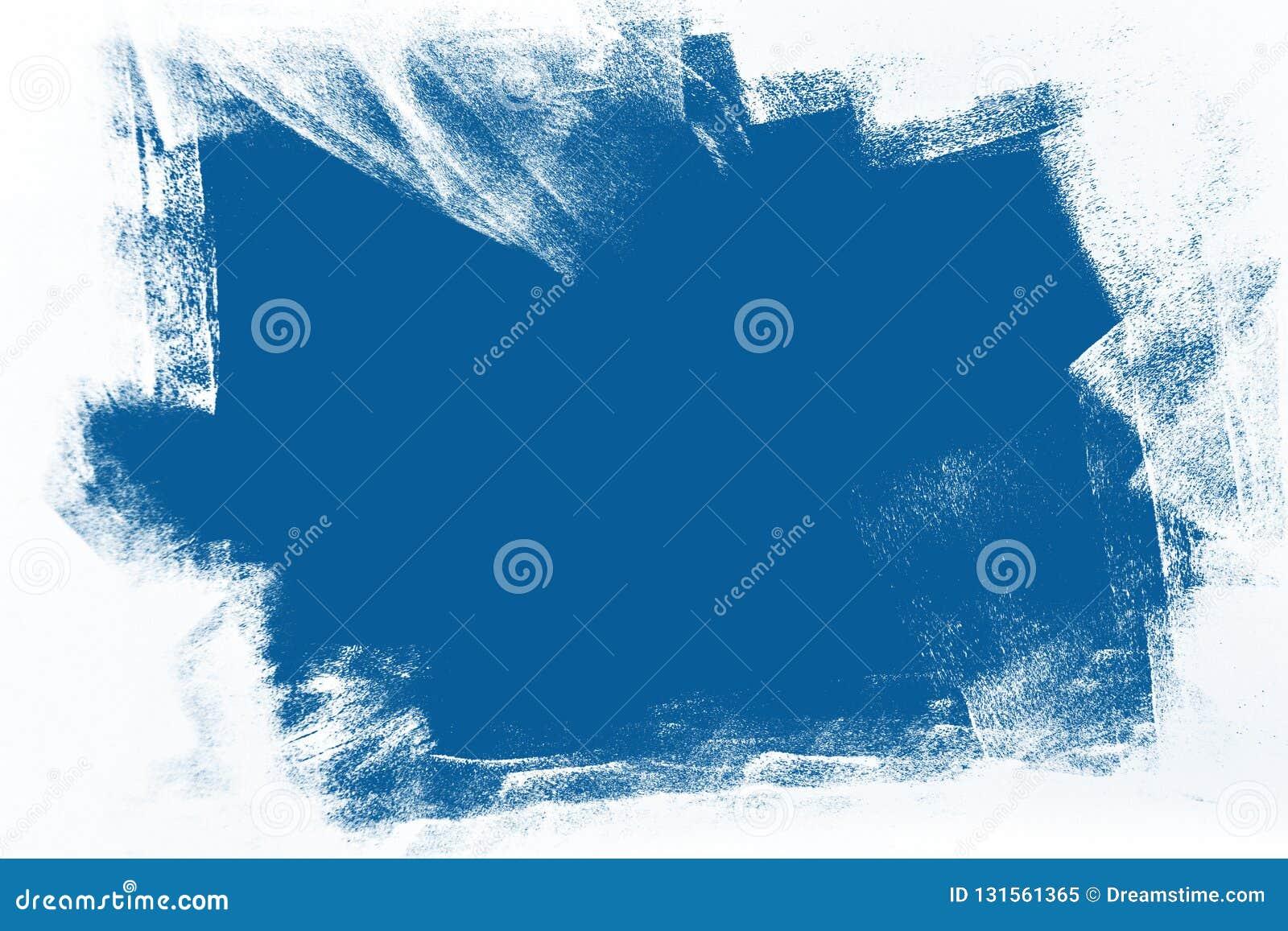 Blaue und weiße handgemalte Hintergrundbeschaffenheit