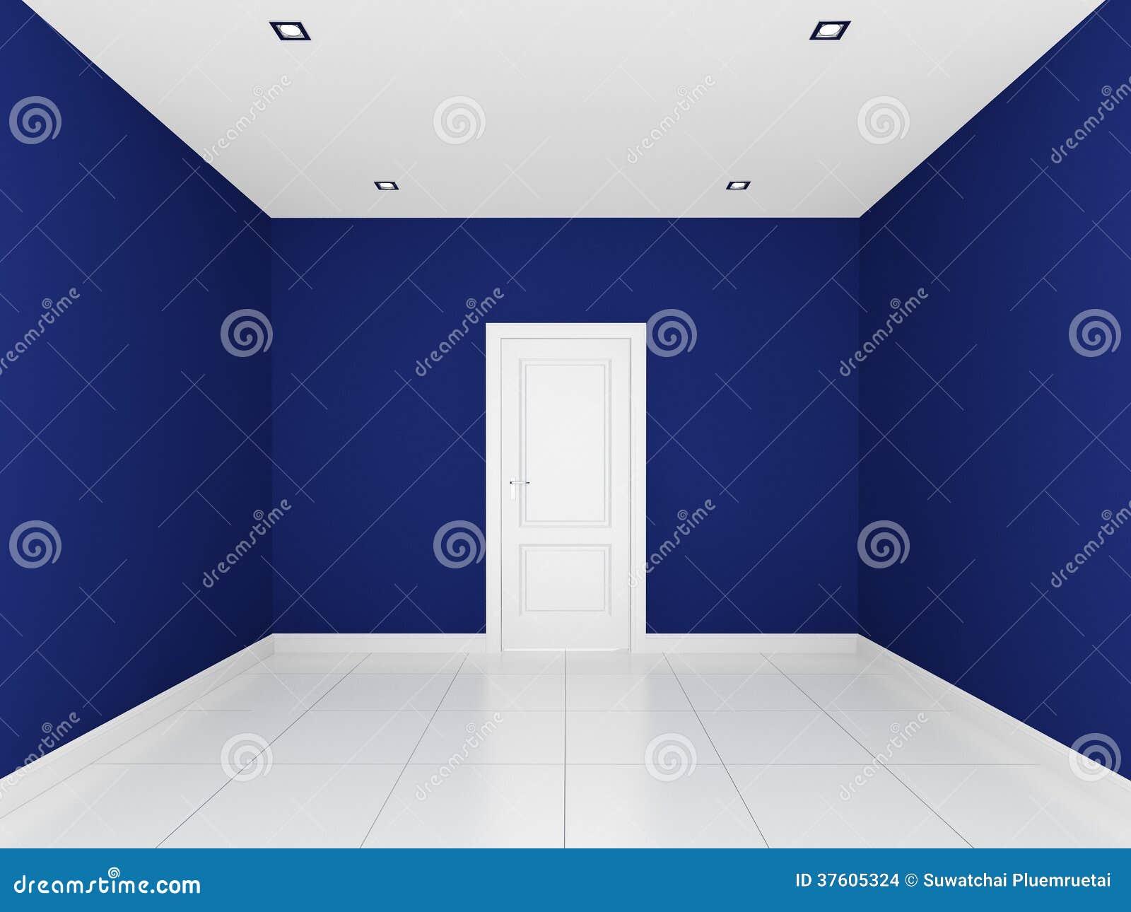 blaue wand in einem leeren raum stockbilder - bild: 37605324 - Blaue Wand