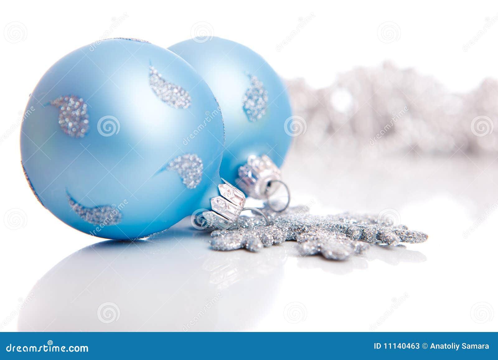 blaue weihnachtskugeln stockfotos bild 11140463. Black Bedroom Furniture Sets. Home Design Ideas