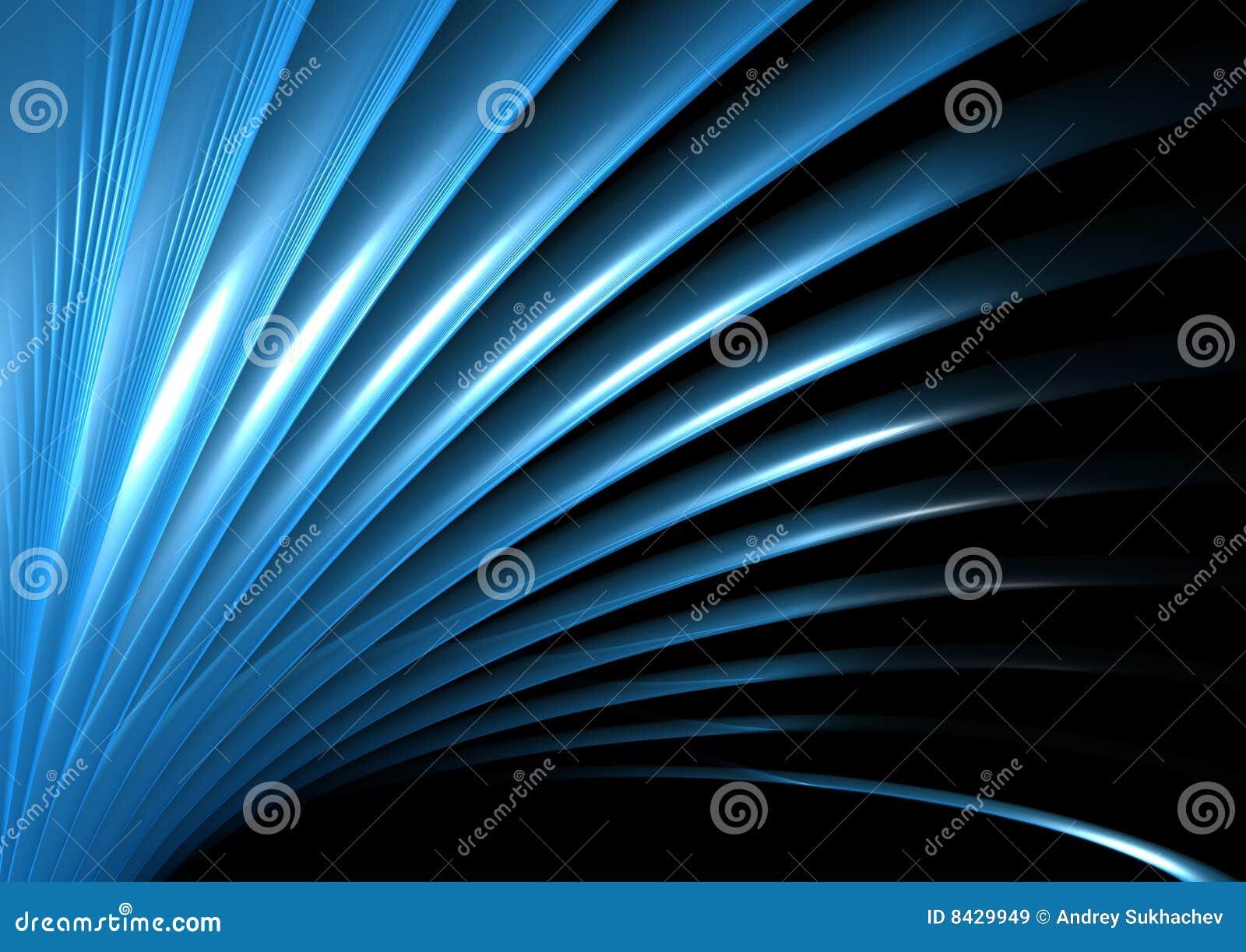 Blaue Welle und Leuchte
